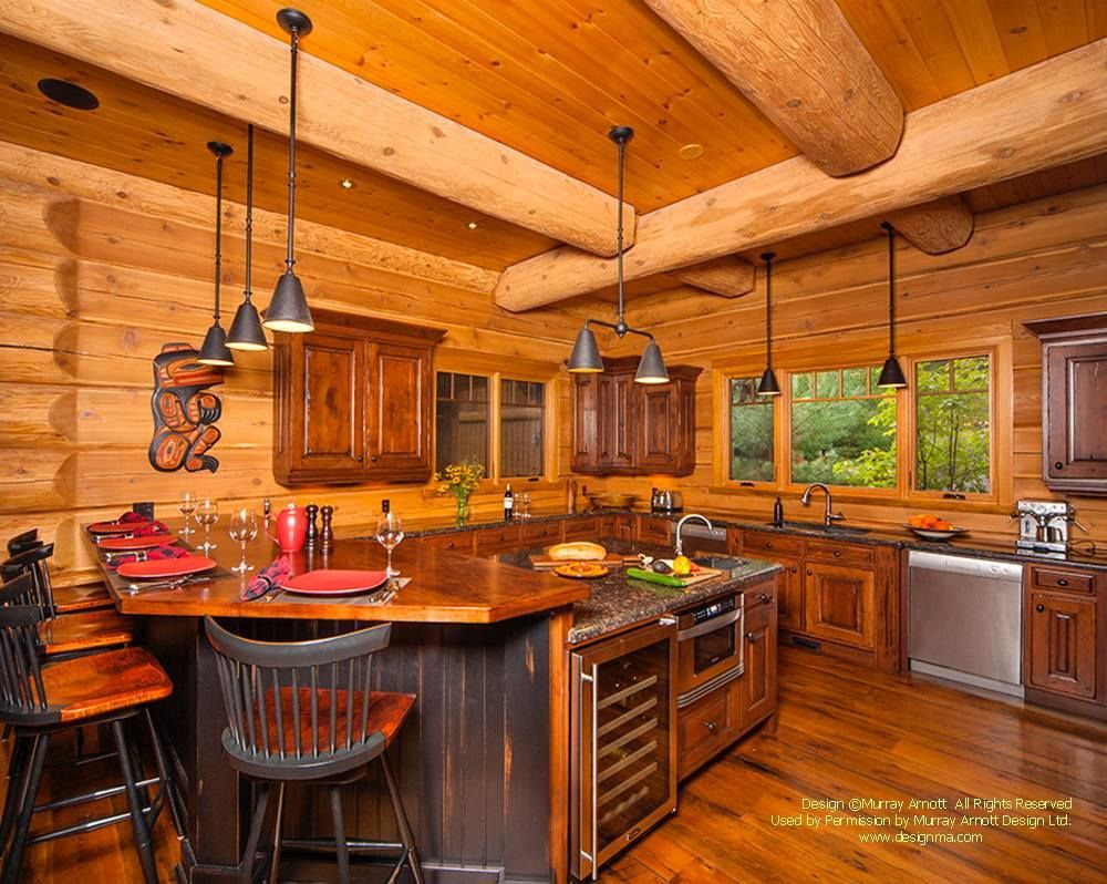 Perfect The Warm Atmosphere Of This Kitchen Using Cedar Paneling And Trim Boards From Western Red Cedar Lumber Associ Timber Frame Homes Cedar Paneling House