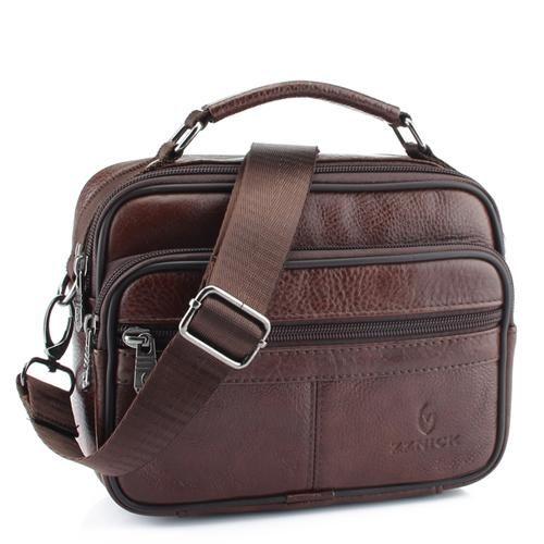 Hommes cuir véritable épaule sac sac à main Fashion Business Cross Body Messenger