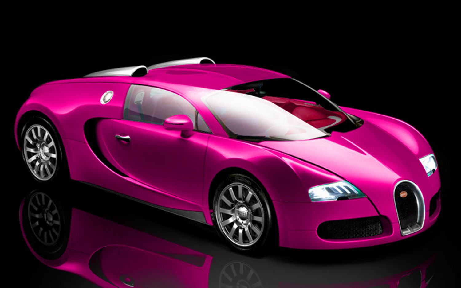 Pink 2011 Bugatti Veyron Super Sport And Luxury Car With Amazing Color Style