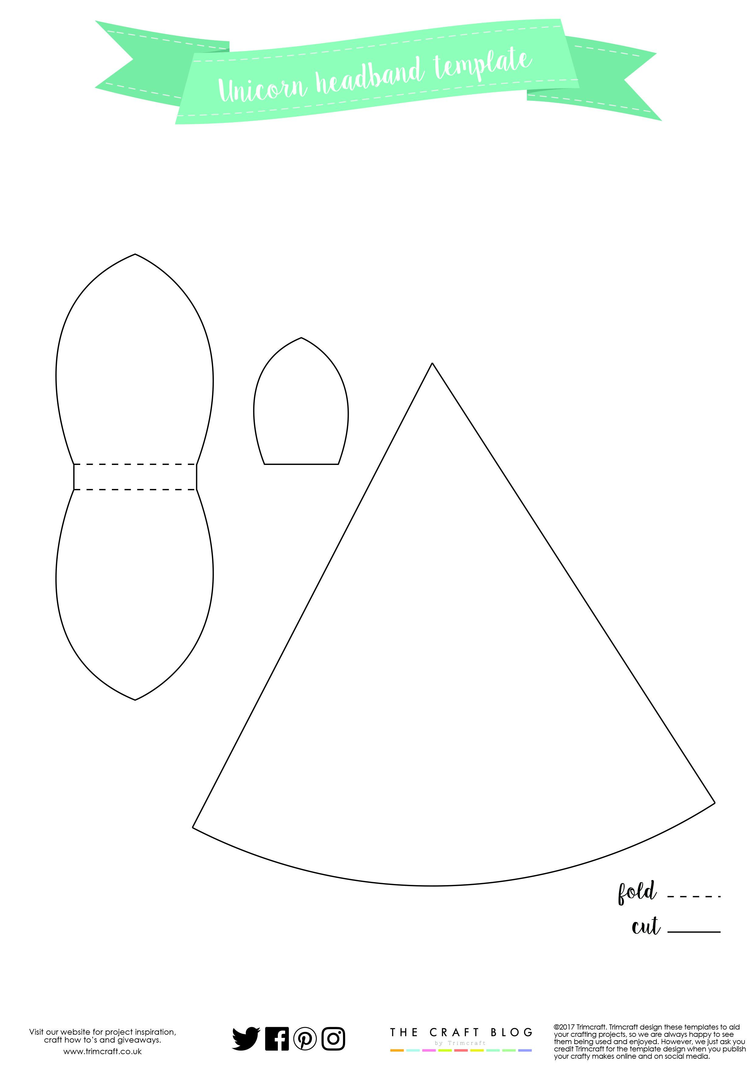 diy no sew unicorn headband tutorial with free printable template