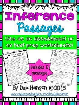 Inferences Worksheets Reading In The Upper Grades Pinterest