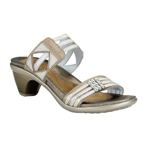 Naot Women's Afrodita Sandals,Champagne Leather/Dusty Silver/Quartz  Leather,39 M