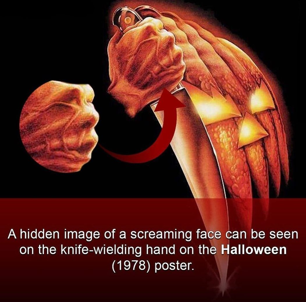 Screaming face in Halloween (1978) poster Halloween 1978