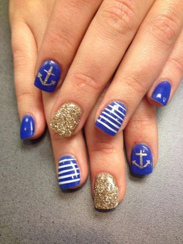 60 Cute Anchor Nail Designs | Fancy nail art, Anchor nail designs ...