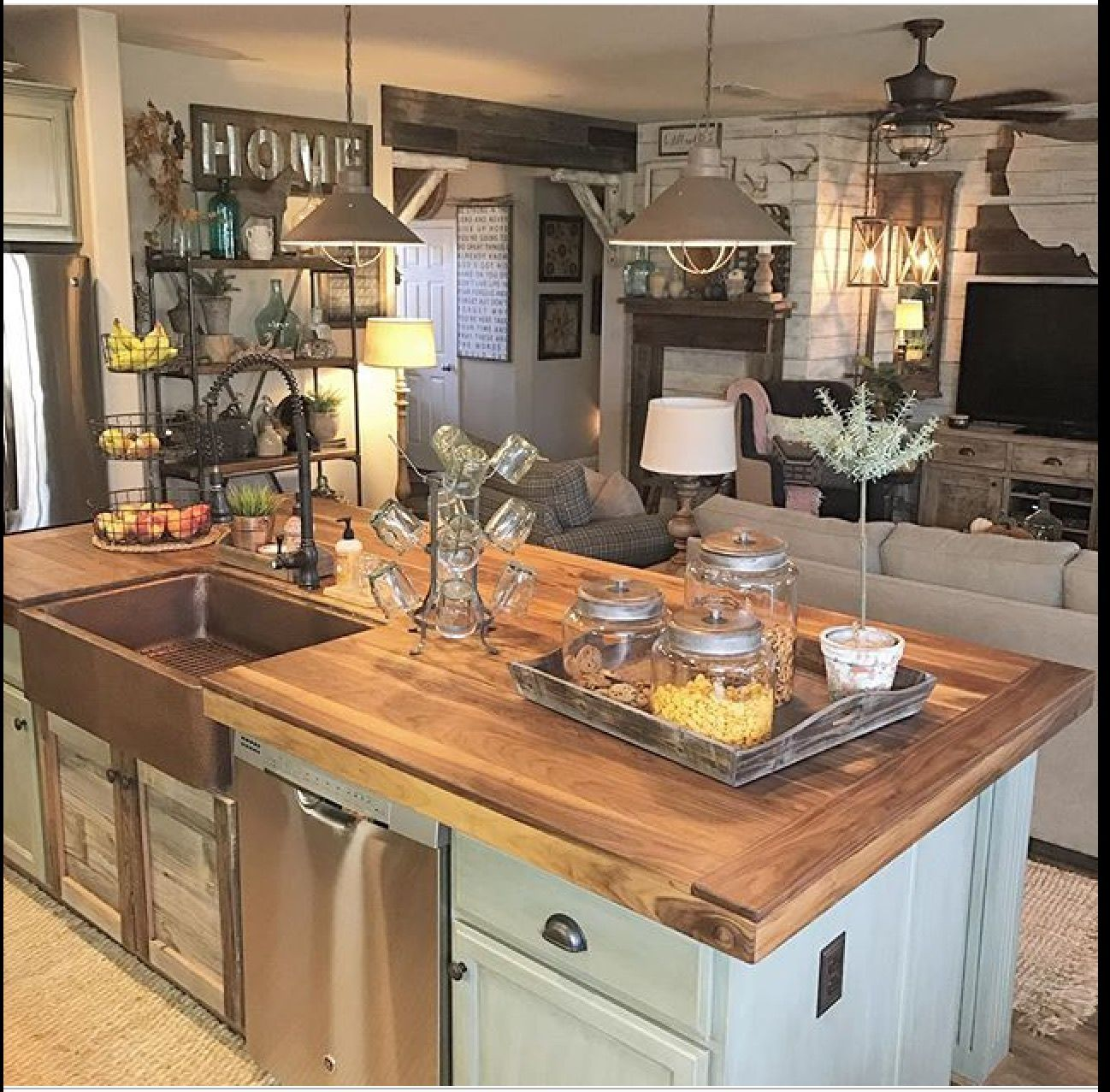 Butcher Block Counter Tops-lake House