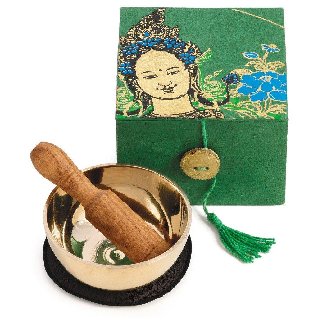 "Mini Meditation Bowl Box 2/"" Heart Chakra DZI"