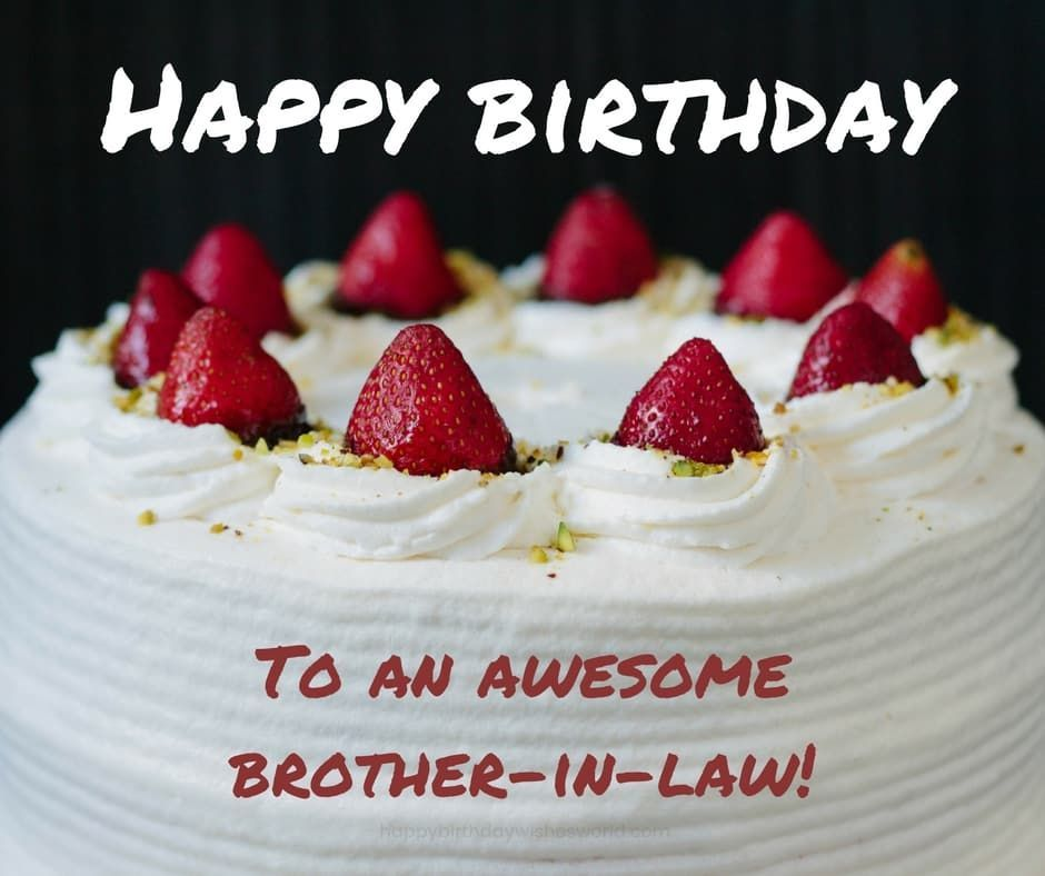 Birthday Cake Images For Brother In Law in 2020 | Happy ...