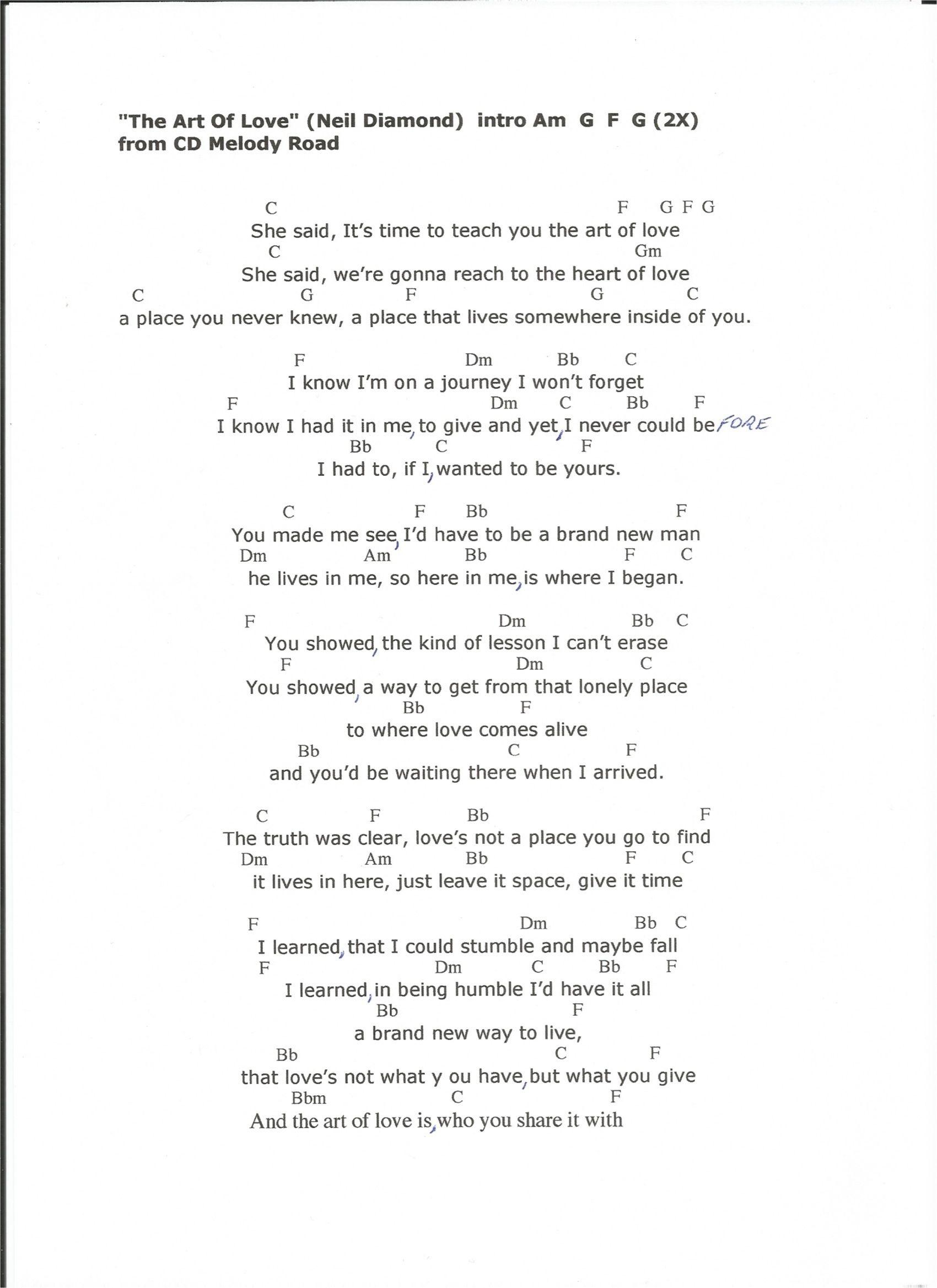 The Art Of Love Neil Diamond Album Melody Road Music Pinterest