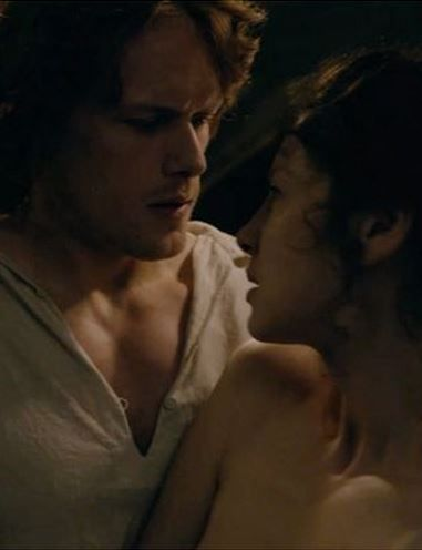 """""""wait, what? but I thought ye......oh."""" jamie and claire, outlander"""