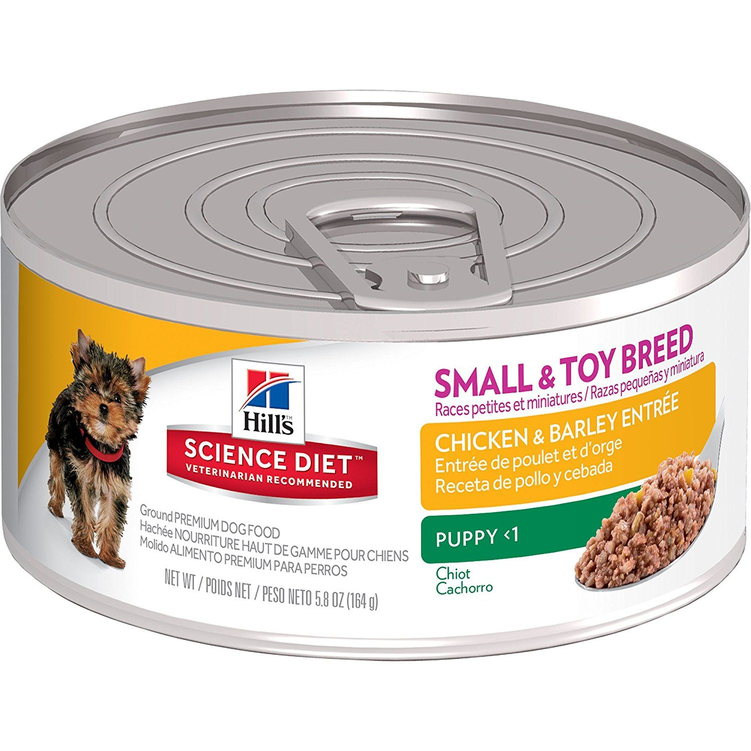 Hill's Science Diet Puppy Small and Toy Chicken and Barley Entree Wet Dog Food, 5.8-Ounce Can, 24-Pack => See this awesome image  : Dog food types
