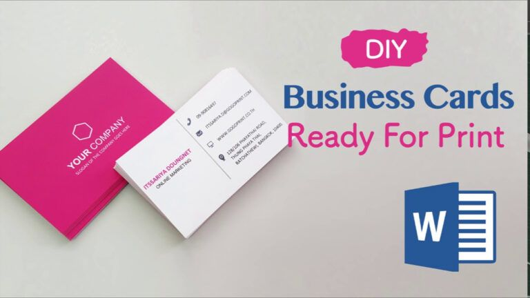 How To Create Your Business Cards In Word Professional And Print Ready In 4 Easy Steps Create Business Cards Business Card Template Word Business Card Maker