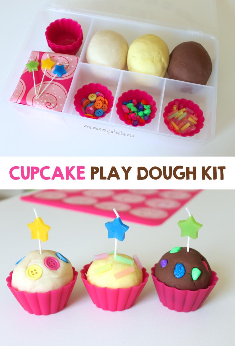 Cupcake Play Dough Kit Playdough activities, Activities