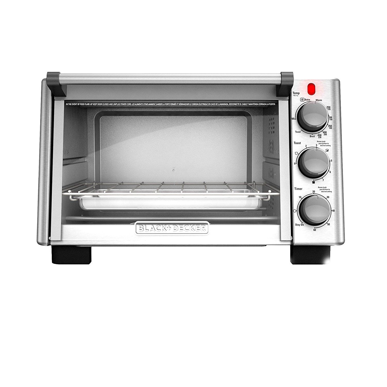 Black Decker To2050s 6 Slice Convection Countertop Toaster Oven