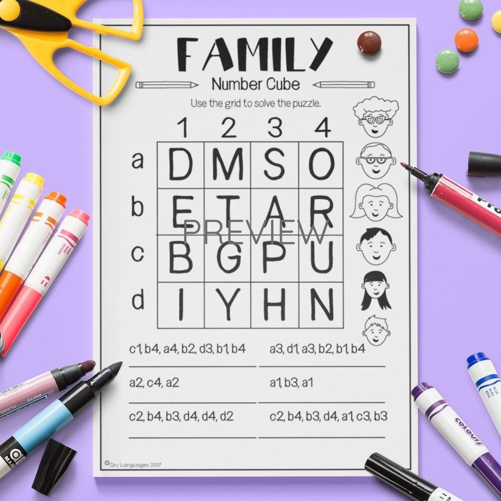 Family Number Cube