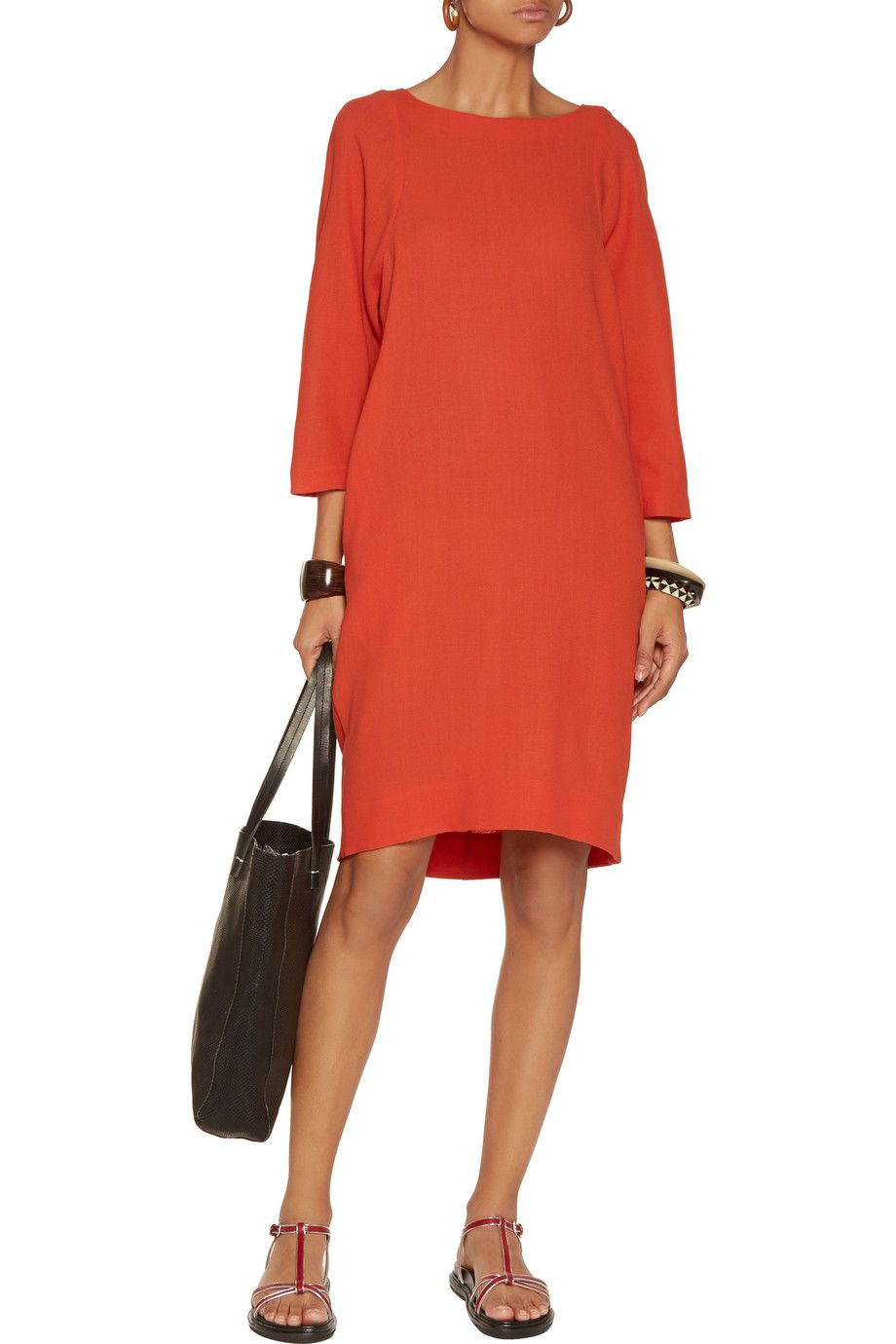 $404 - Marni Wool-crepe dress. Browse other discount designer Dresses & more on The Most Fashionable Fashion Outlet, THE OUTNET.COM