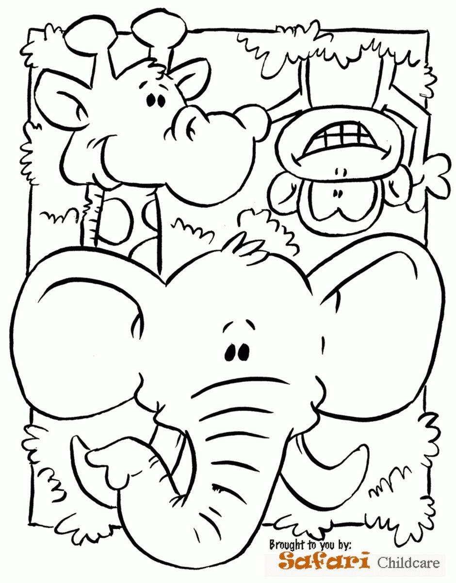 18 Safari Worksheet For Preschool Dieren Kleurplaten Kleurboek Mandala Kleurplaten