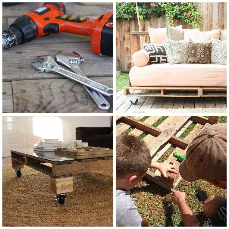 Fabriquer salon de jardin en palette de bois – tuto canapé et table ...