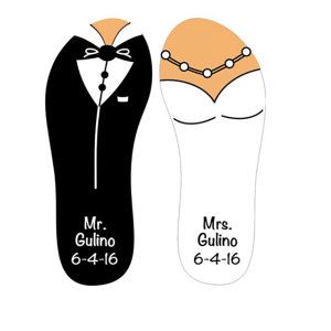 28a351f39f848 50 pairs - Personalized Flip-flops for Party Guests - Wedding, Sweet ...