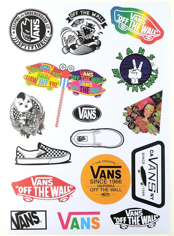 e7020397271f Set of Laptop  Suitcase  Skateboard Stickers - 16pcs - Vans Stickers -  Decorative Sticker - Gift Pac