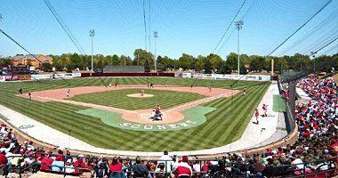 L Dale Mitchell Park Home Of The Oklahoma Sooner Baseball Team Baseball Park Baseball Stadium Baseball Field