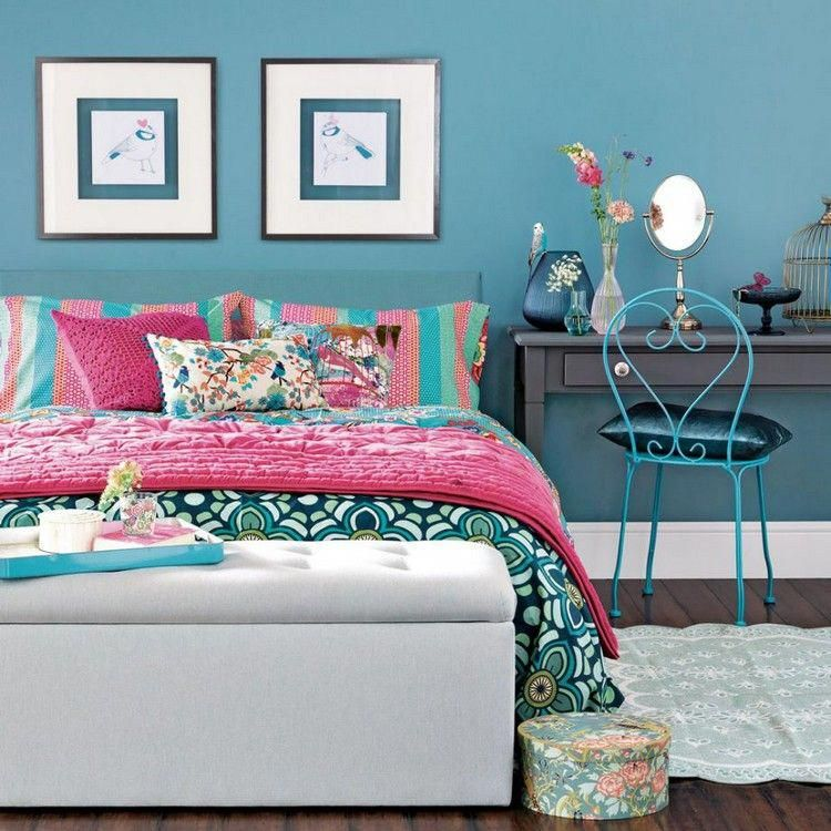 Captivant Déco Chambre Fille Ado Bleu Canard Idées Magnifiques  #diybedroomdecoratingideasforgirls