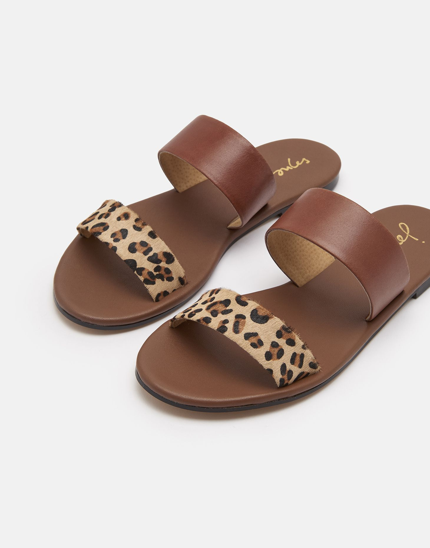 Two Strap Leather Sandals | Joules UK