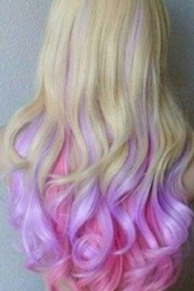 Blonde Hair With Pink And Purple Highlights Madison Wants This For Her Bday Hair Color Crazy Hair Hair Chalk