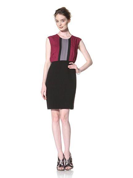 Taylor Dress Women's Color Block Dress, Gem/Black