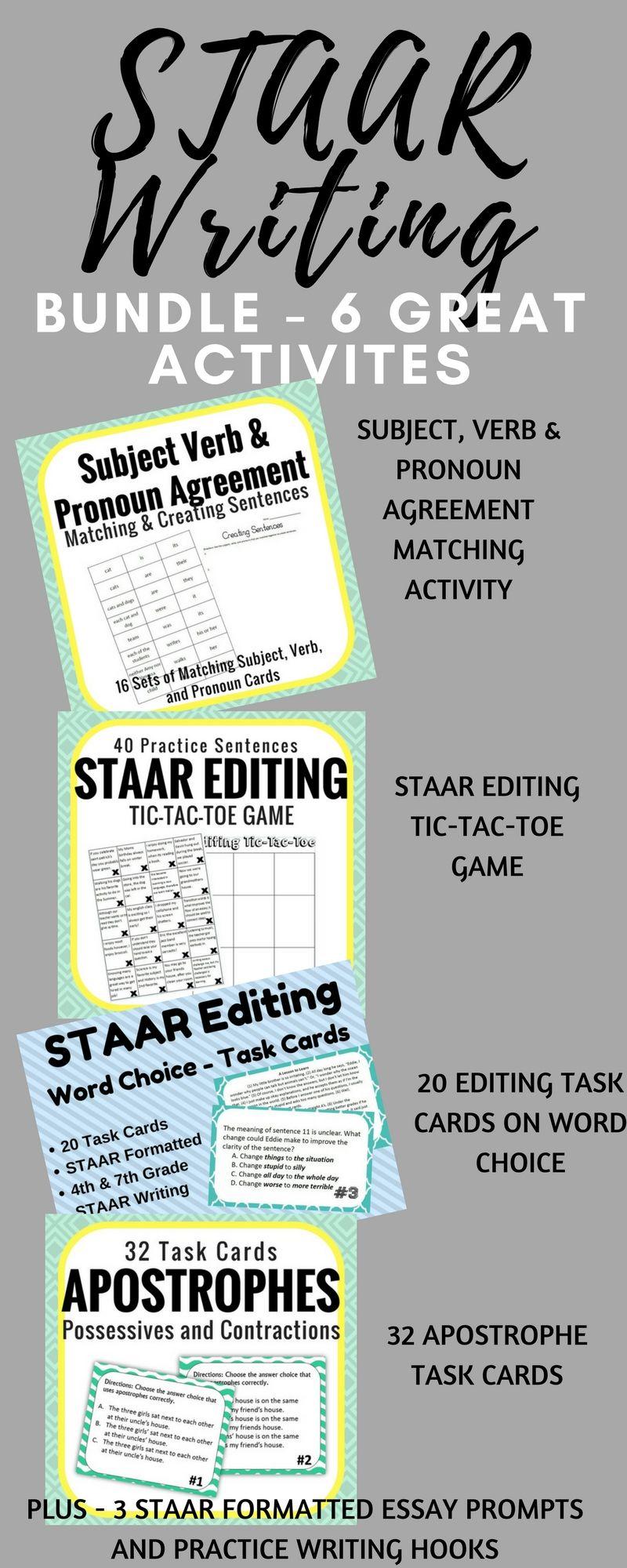 0010 STAAR Writing Test Prep Bundle Middle School Language