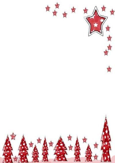 Free Christmas Printable Writing Paper Tree