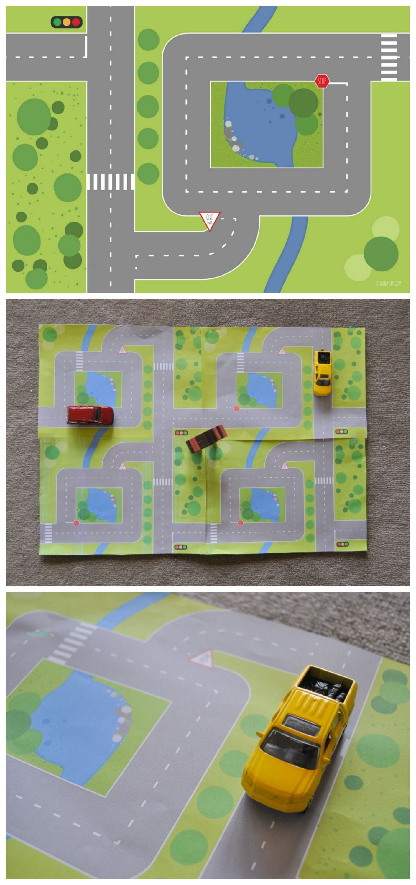 find this pin and more on kid blogger network activities crafts printable play mat for cars
