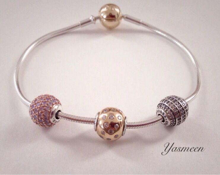 Tri Color Pandora Essence Charms Bracelets Jewelry Charm