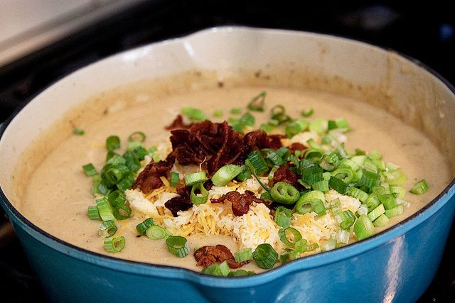 Fully Loaded Baked Potato Soup | Recipe | Loaded baked potato soup ...