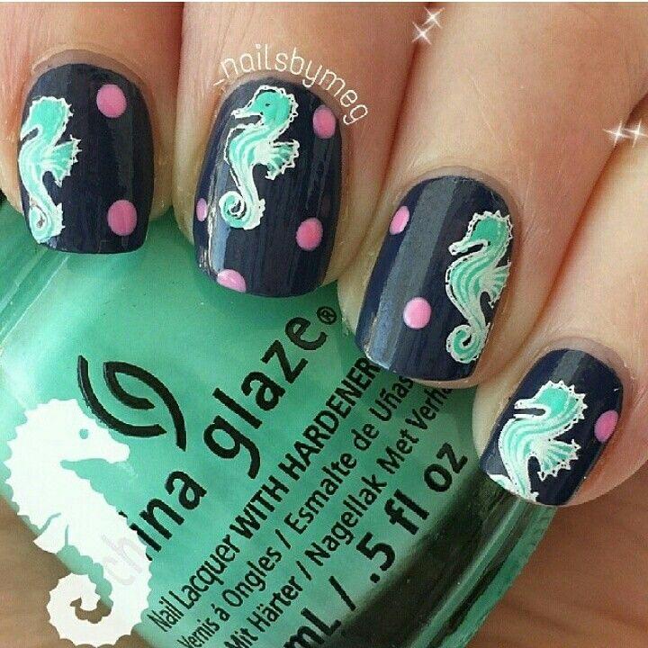 SeaHorses | Nails | Pinterest | Manicuras, Esmalte para uñas y ...