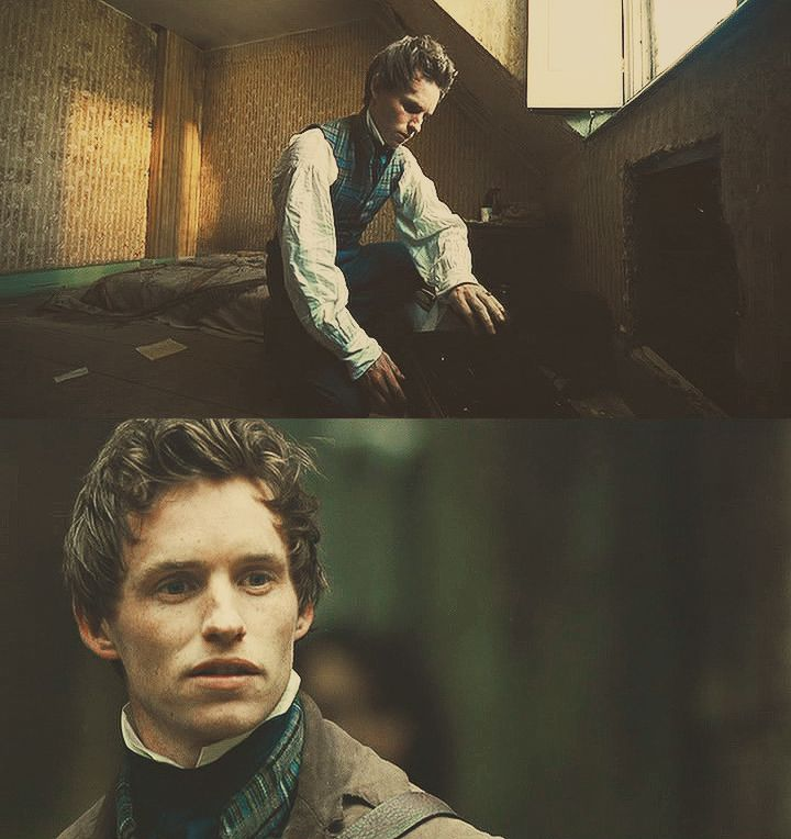 Marius. Okay, am I the only one who thinks Eddie's hair looked PHENOMENAL when he was Marius?