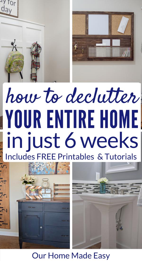 The Free 6 Week Declutter Challenge Declutter Your Home