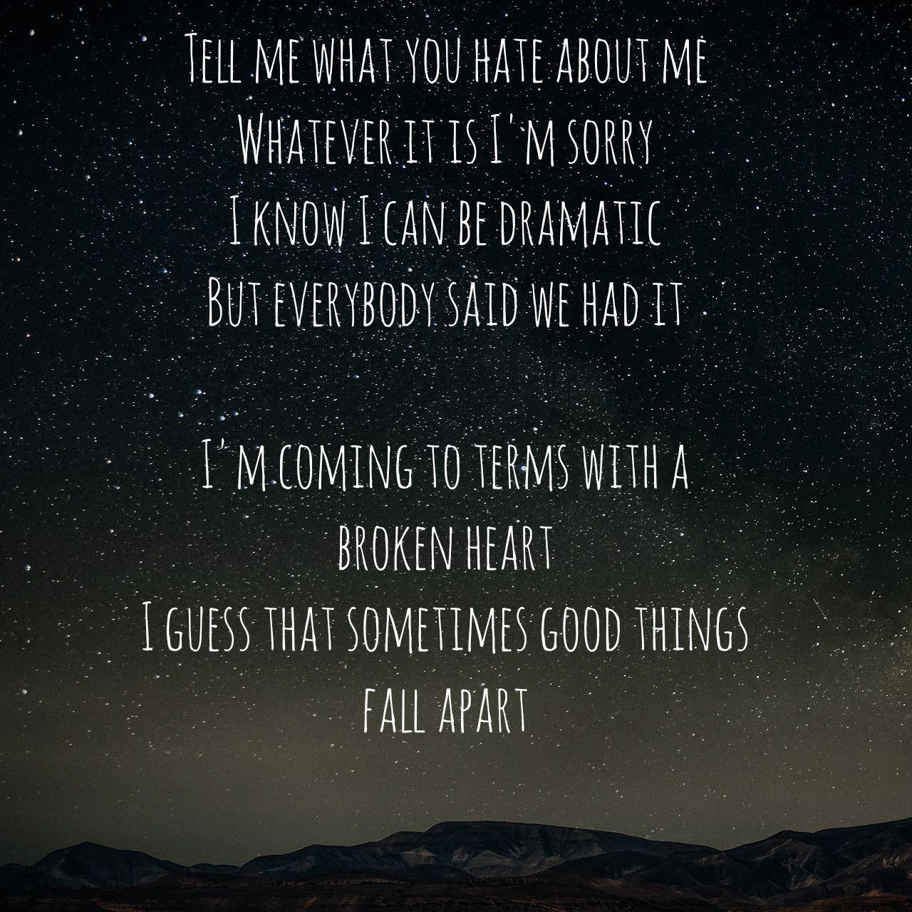 Good Things Fall Apart By Jon Bellion Lyrics