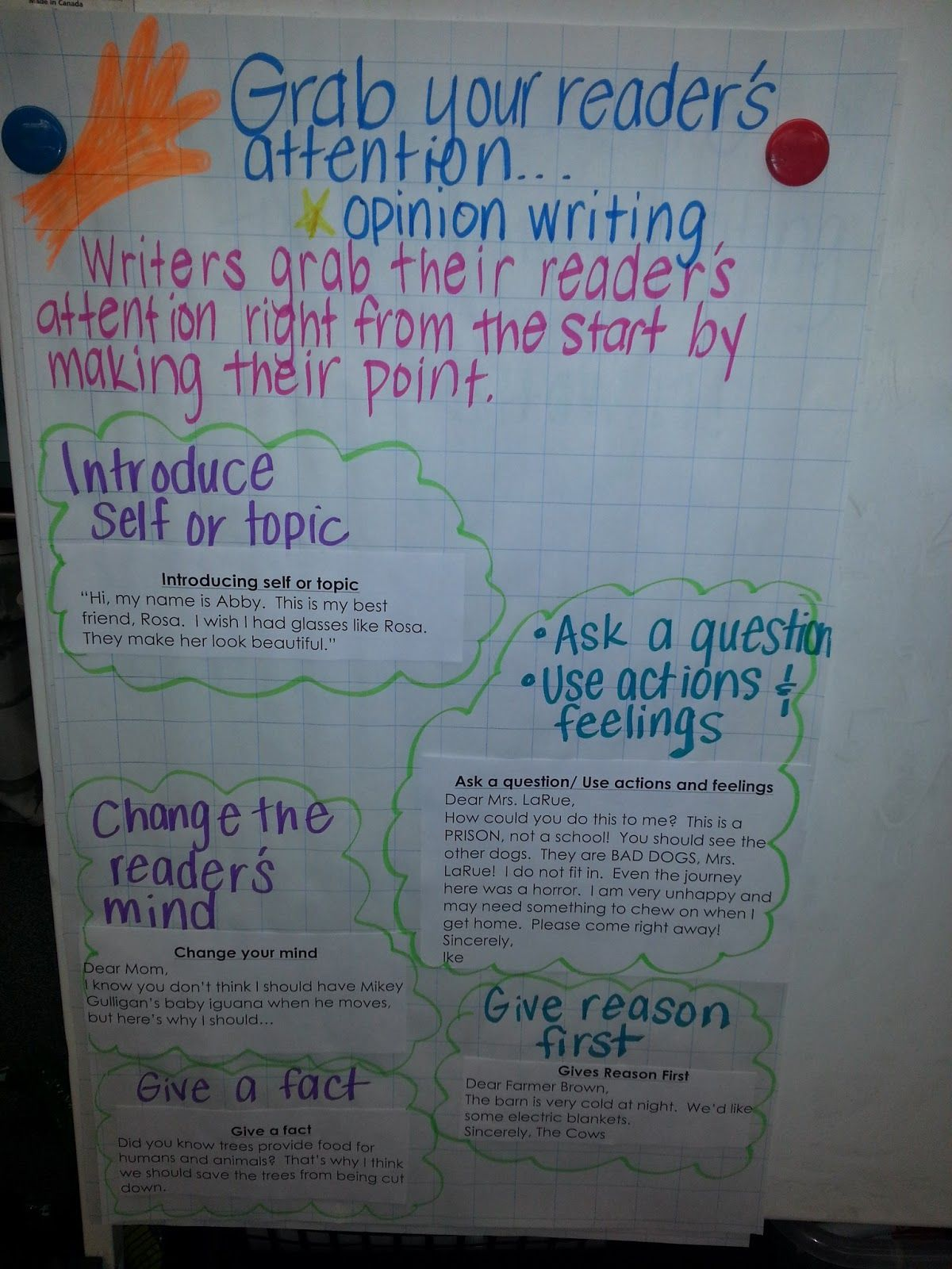 I have posted about persuasive writing (opinion) before