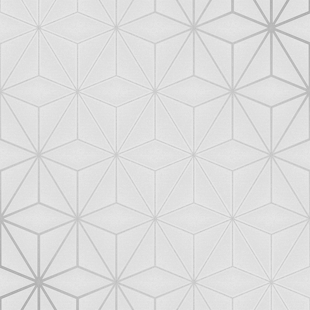 Fine Decor Pulse Wallpaper Star Geo Silver Fd42338 Silver Wallpaper Geometric Wallpaper Shop Wallpaper