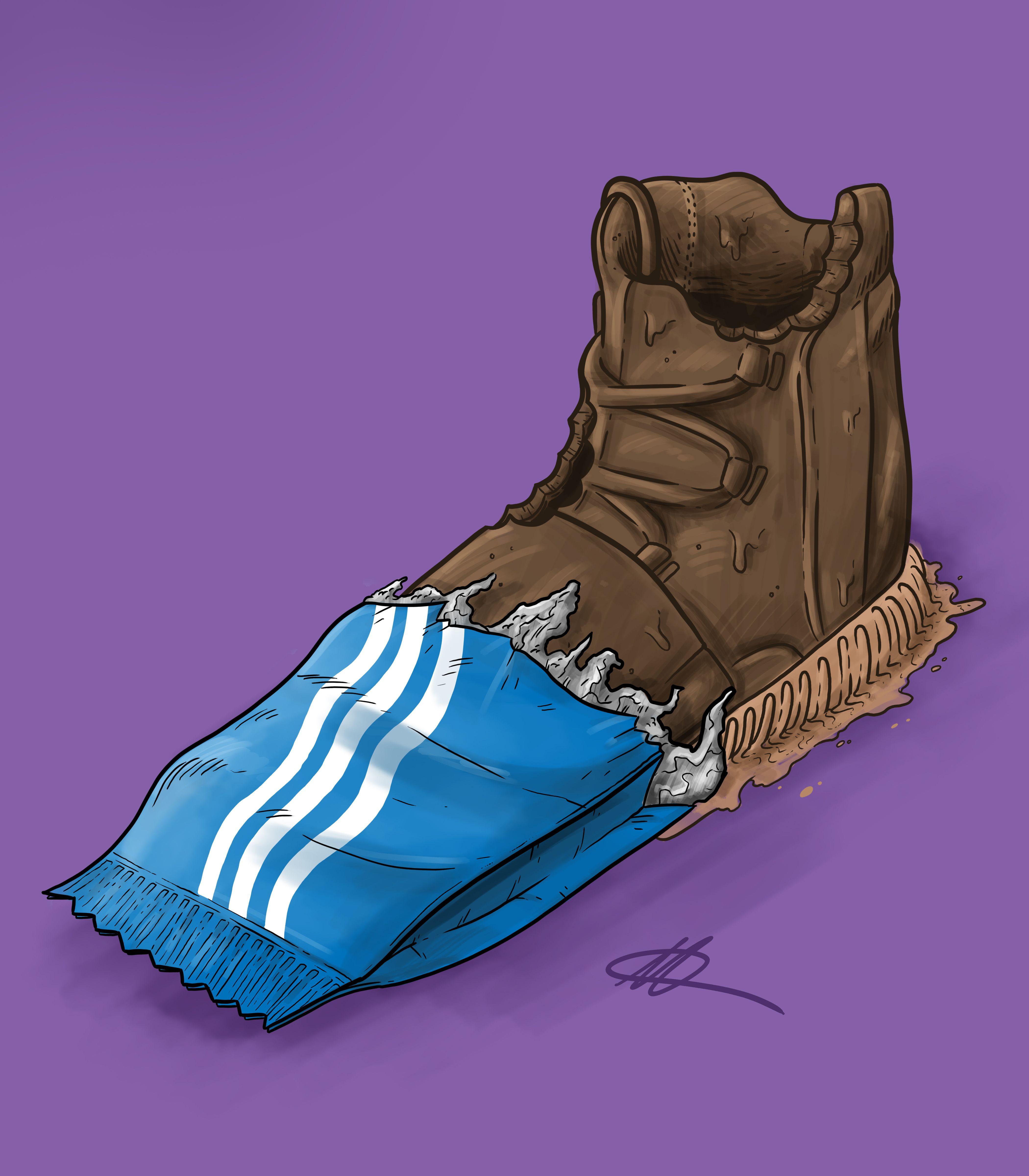"Sneaker Art Adidas Yeezy 750 Boost "" Chocolate"