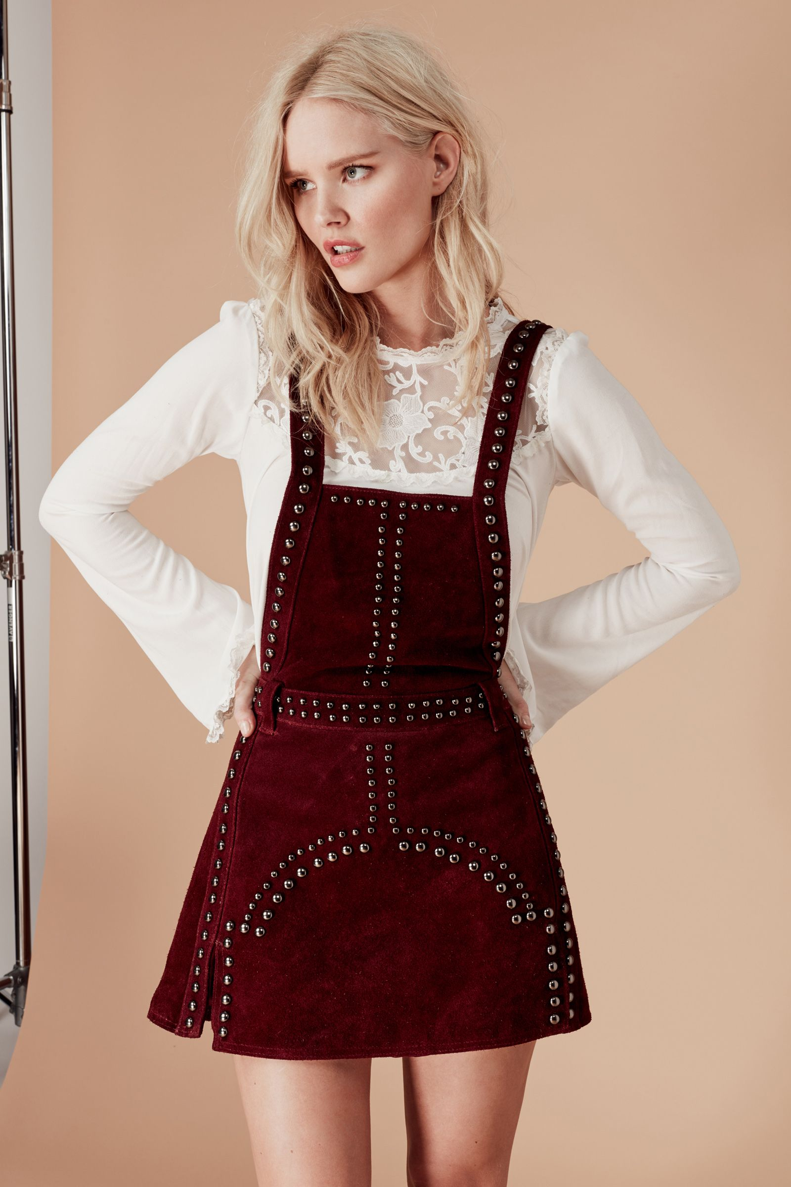 JAMESON LEATHER OVERALL DRESS Overall dress, Dresses