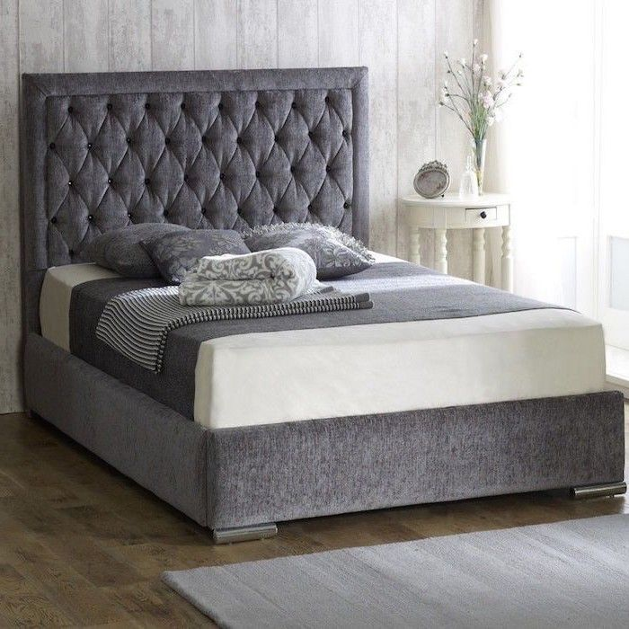 Best Bethel Fabric Upholstered Bed Frame Luxury Fabric Beds 400 x 300