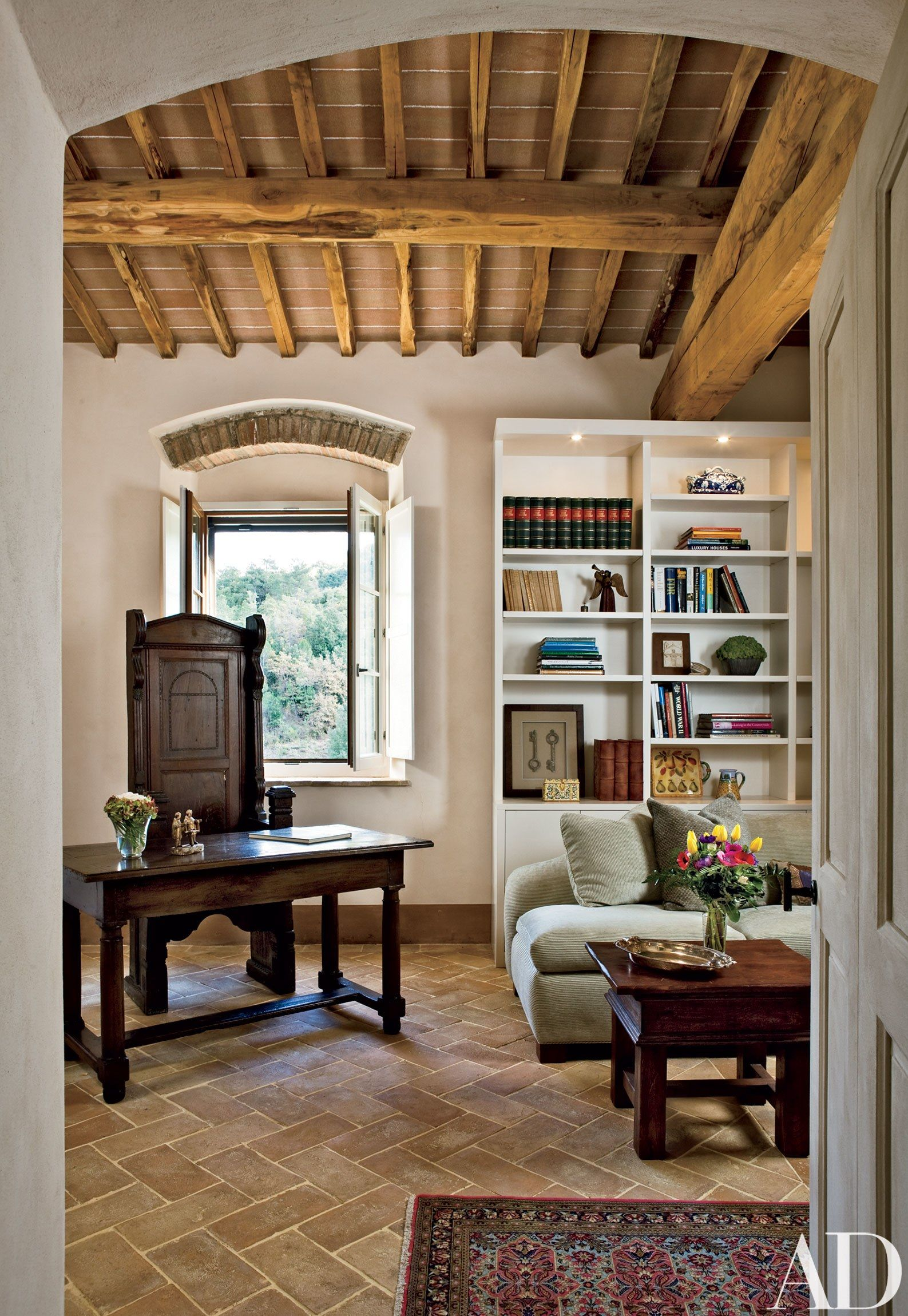 A Property In Tuscany Is Restored To Reflect Its Historical