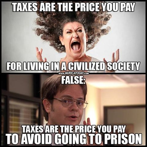Image result for libertarian meme about taxes