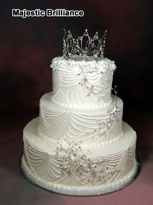 2 tier round wedding cakes pictures whimsical wedding cakes with tiara topper three tier 10136