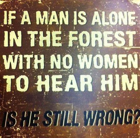 Men know everything
