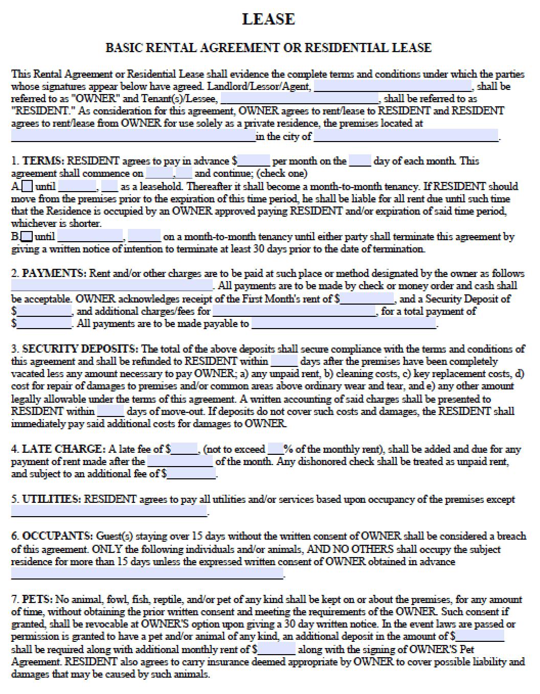 Free Georgia Residential Lease Agreement Pdf Template Lease Agreement Free Printable Lease Agreement Room Rental Agreement