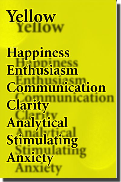 Color Yellow Meaning Affects