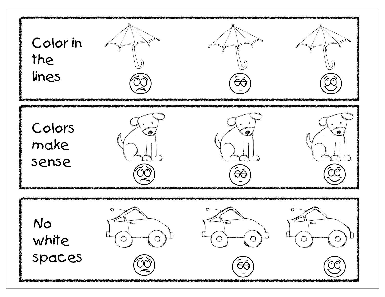 Pre-K rubric | Kindergarten Night Owls: Coloring Assessment ...