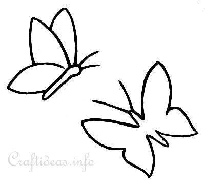 Butterflies_Template.Jpg (400×363) | Applique | Pinterest